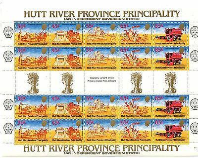 A Full Sheet Of Stamps From Australia Hutt River Province Principality 1970..,..