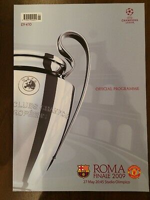 Fc Barcelona V Manchester United Uefa Champions League Final Programme May 2009