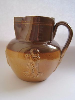Unusual Doulton Lambeth Small Stoneware  Jug Cherubs