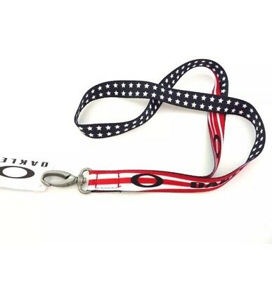 New With Tags Oakley American USA Flag Printed Lanyard !