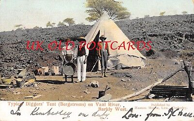 South Africa - BARKLY WEST, Typical Diggers' Tent ( Bergstroms ) on Vaal River.