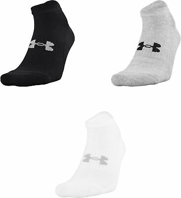 6c12ed4969c UNDER ARMOUR MENS Charged Cotton 2.0 No Show Socks