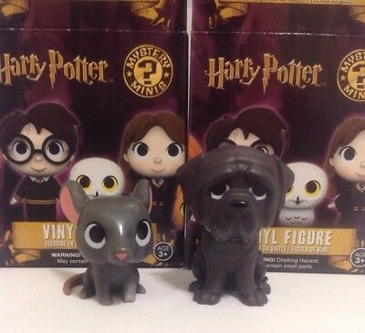 Harry Potter Funko Mystery Minis Scabbers & Fang Figures