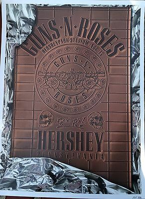 Guns N Roses Hershey Park Stadium 8/13/17 300 Poster Numbered Le Limited Gnr Axl