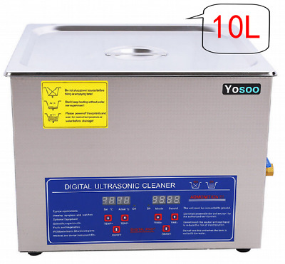 10L UK Ultrasonic Cleaner Ultra Sonic Timer Bath Tank Jewellery Cleaning Basket