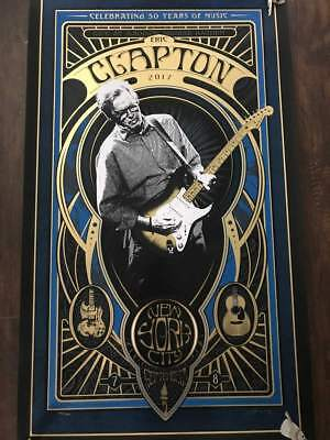 Eric Clapton Usa Tour Poster New York Msg Ny Signed Sold Out Look!
