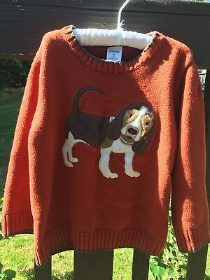gymboree boys sweater rusty red w dog applique 3T . 100%cotton.