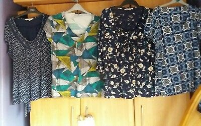 L@@k 4 Pack Size 18 Assorted Blue Green Mix Tunic Summer Anytime Tops Bundle