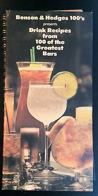 100 Greatest Alcohol Drink Recipes Book. Benson & Hedges
