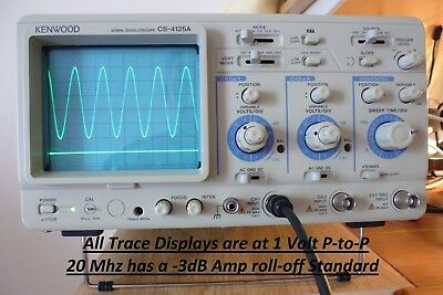 KENWOOD 20 Mhz Oscilloscope CS-4125A. Dual Channel & Trace...