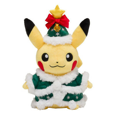 [Japan Pokemon Center Limited] Plush Doll Pikachu Christmas 2017 Pre Order