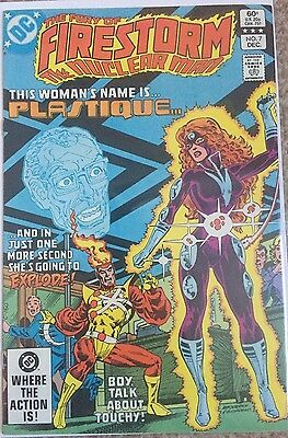 The Fury of Firestorm – #7 – 1st FIRST PLASTIQUE APP – DC Comics – VFN