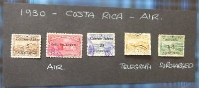 1930 Costa Rica Used//hinged stamps-Air- No F-125
