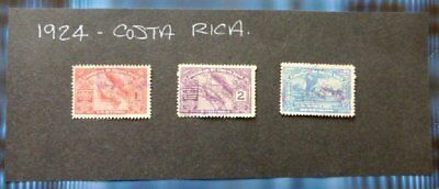 1924 Costa Rica Used//hinged stamps-Various- No F-120