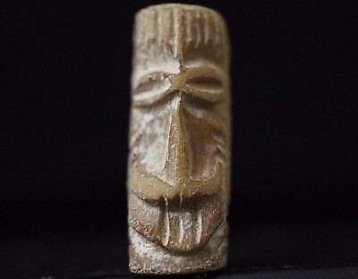 Ancient Viking BÖNE Hair / Beard Bead depicting Head of Norse God, c 950-1000 AD