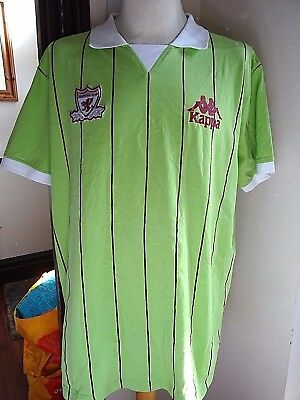 Kappa Green Pinstriped Football Shirt Size Extra Large