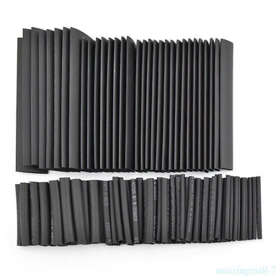 127pcs Cable Heat Shrink Tubing Sleeve Wire Wrap Tube 2:1 Assorted Kit BID1 AM1