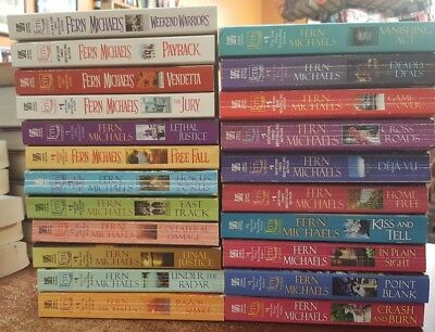 Fern Michaels Sisterhood series lot of 22 paperback novels