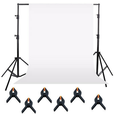 Photo Studio White Backdrop Background Photography Stand Muslin Kit Sets