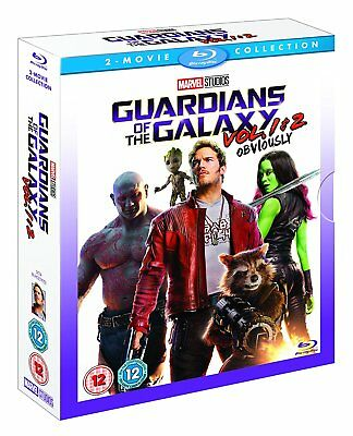 Guardians of the Galaxy Vol. 1-2 Blu-Ray Two Movie Collection Set NEW Free Ship