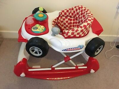 Car Baby Walker - Blue Colour: Red