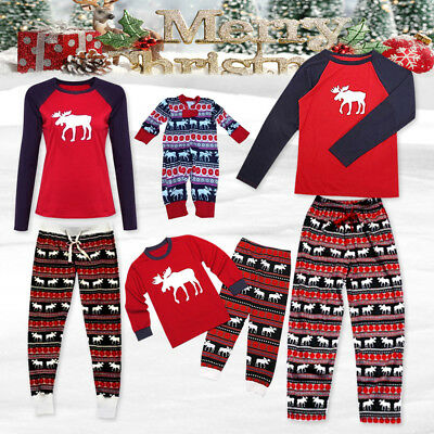 Christmas Pyjamas Matching Set PJs Family Kids Mum Dad Xmas Sleepwear Nightwear