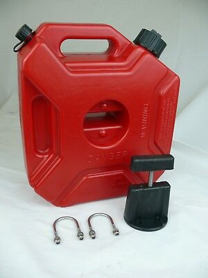 1.3 Gallon Gas Spare Container Fuel Pack Can with Mounting Kit ATV UTV Off Road