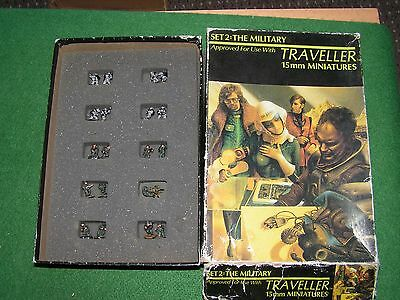 VINTAGE 15mm TRAVELLER MINIATURES BOX SET 2 THE MILITARY PAINTED SCI FI GDW