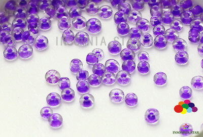 New 2mm 1000 Pcs Round Dyeing Hearts Gilding Glass Loose seed Spacer Beads A-28
