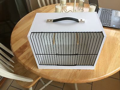 Bird Carrying Cage in Hygienic PVC with handle