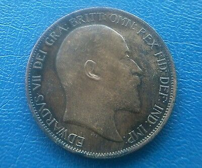 1902 Edward Vii Penny  With Some Lustre & Toning