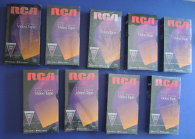 9 New RCA T-120 6 Hour VHS HI-FI STEREO PREMIUM Daily Use Video Cassette Tapes