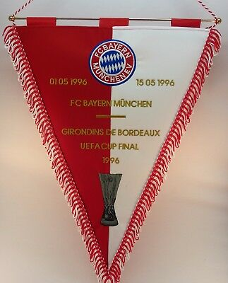 Fußball-Club Bayern München UEFA Cup Final 1996 Embroidered Pennant Wimpel
