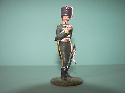 Napoleonic Waterloo Soldiers Painted 54Mm 1 32 Officer Smoking Pipe Green 15