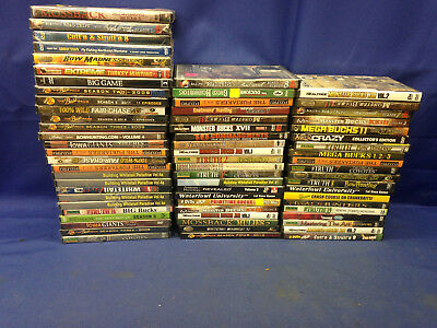 Lot of 68 Hunting and Fishing DVDS