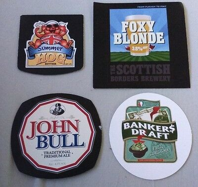 4 Beer pump badge clip VARIOUS brewery ale pumpclip INSERT Foxy Blonde John Bull