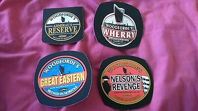 4 Beer pump badge clip WOODEFORDE'S brewery cask ale pumpclip INSERTS front