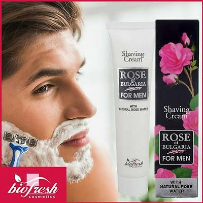 Crema barba Rose of Bulgaria, con acqua di rosa naturale