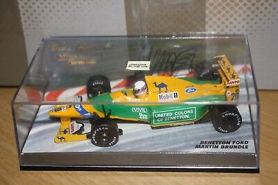 Martin Brundle Benetton B192 *Signed* 1:43rd Scale Model