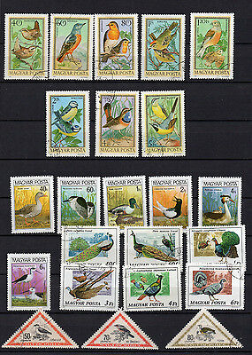 BIRDS on STAMPS - 68 DIFFERENT  USED H BIRD STAMPS