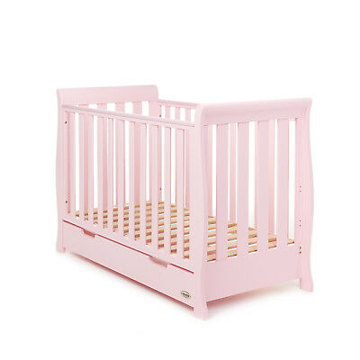 Obaby Stamford Mini Sleigh Cot Bed Crib Girls Nursery Furniture – Eton Mess