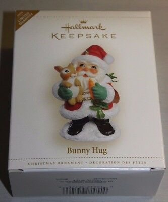 2006 Bunny Hug Santa Hallmark Keepsake Ornament From 10,000 Pc Lot NIB
