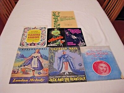 PANTOMIME/ICE SHOW PROGRAMMES LONDON, S.W.6. AND RICKMANSWORTH 1950's 1970's
