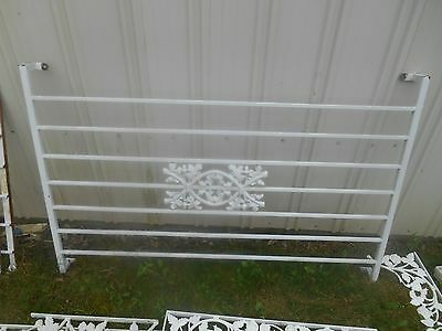 Pair Vintage Wrought Iron Ornamental Porch Section ~ Architectural Salvage 55""