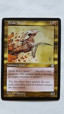 1x ACIDIC SLIVER - Rare - Stronghold - MTG - NM - Magic the Gathering