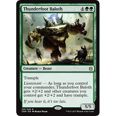 1x THUNDERFOOT BALOTH - Rare - Commander - MTG - NM - Magic the Gathering