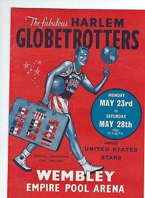 Harlem  Globetrotters Empire Pool Wembley May 1960 Programme Very Good Condition