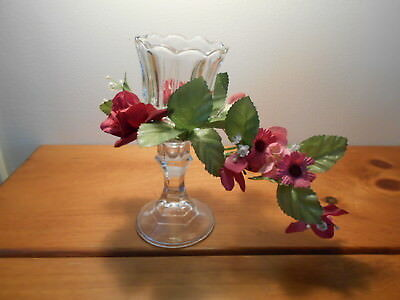 Cranberry mini candle ring, stick, & Votive cup Vintage Home Interiors