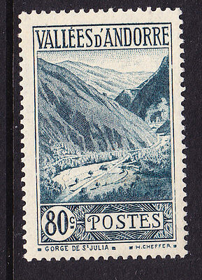 Andorra 1932 Gorge - 80c. Green.- Mint F49