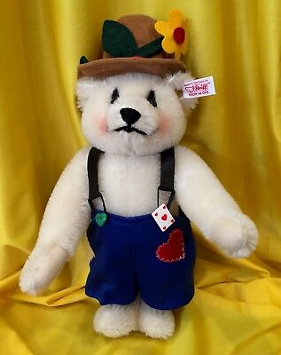 STEIFF  1992 * MR. TOP HAT CLOWN BEAR *  LE 1500 Rare Genuine Mohair